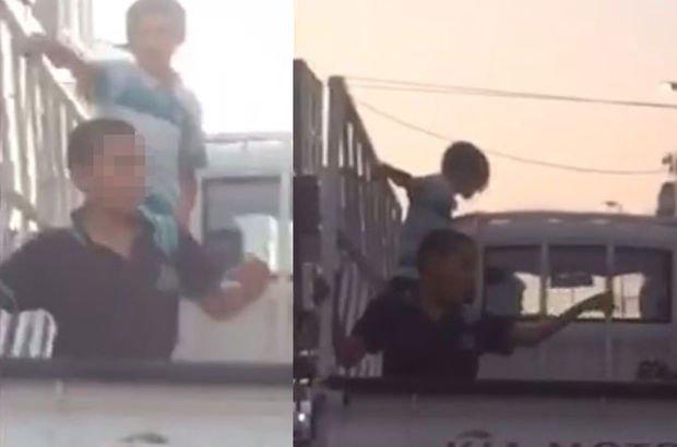 İstanbul'da tehlikeli yolculuk! Çocuklar kamyonet kasasında dans etti