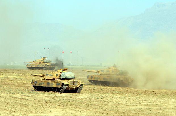 Irak sınırındaki tatbikatta 7. gün! Tanklar hücum eğitimi yaptı