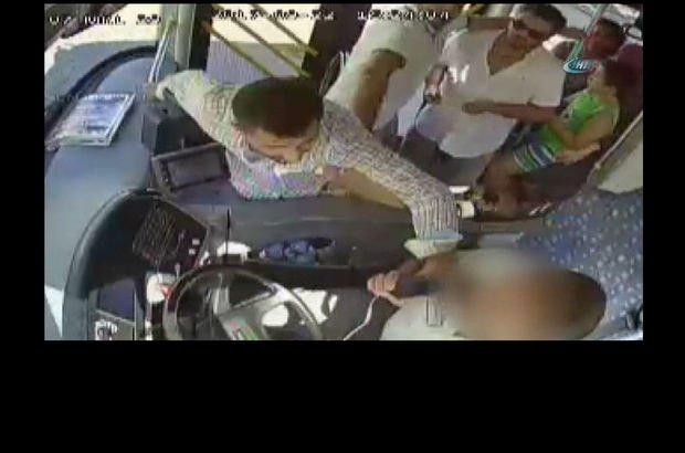 Taksiyle takip edip yolcu otobüsü şoförünü darp etti