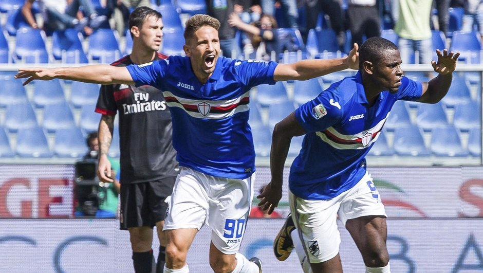Sampdoria: 2 - Milan: 0
