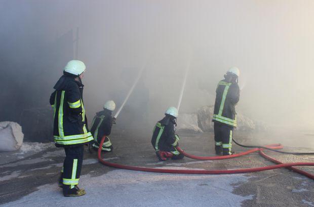 Kütahya'da fabrika yangını