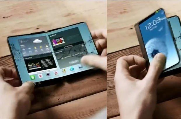 katlanabilir ekranlı telefon