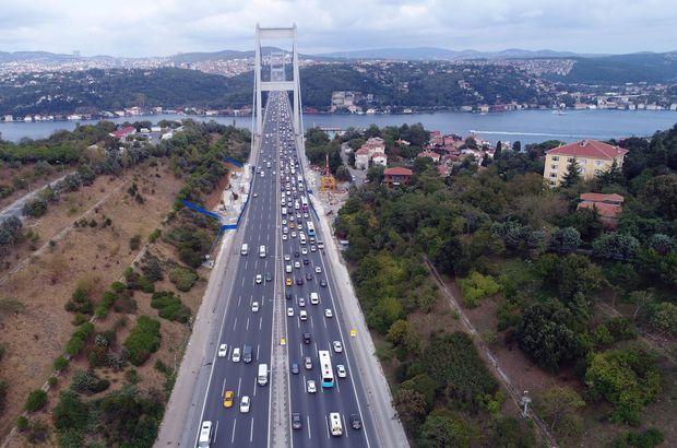 Fatih Sultan Mehmet Köprüsü'nde trafik yoğunluğu