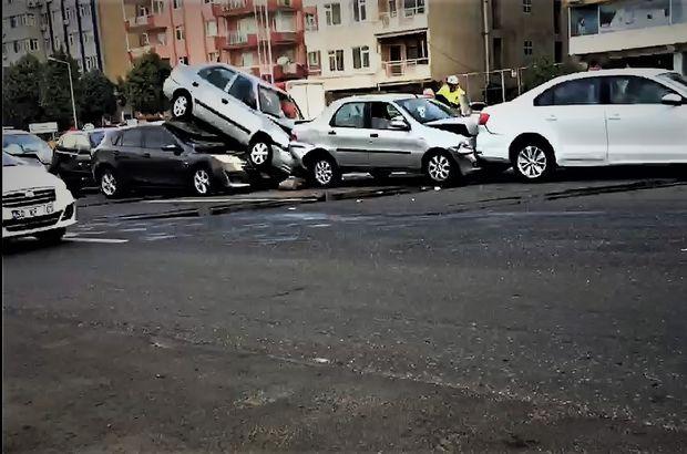 Tekirdağ'da 7 araç birbirine girdi: 7 yaralı