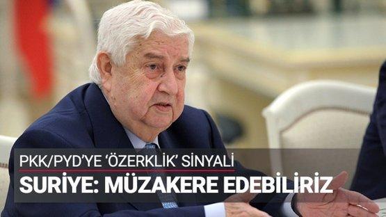 """PKK/PYD'ye """"özerklik"""" sinyali"""