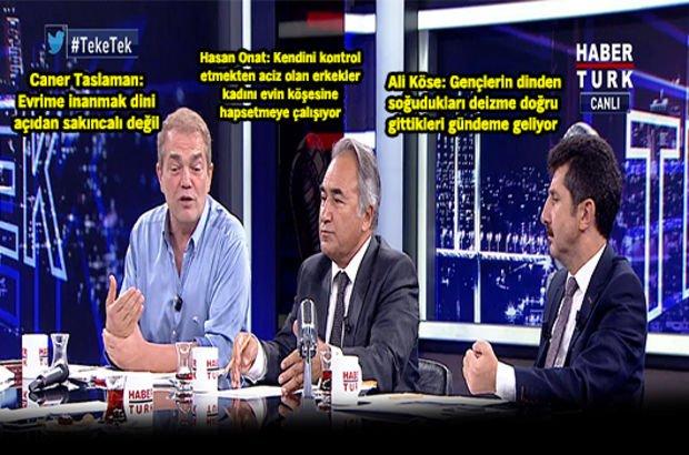 Caner Taslaman Ali Köse ve Hasan Onat, Habertürk TV'de Teke Tek'e konuk oldu
