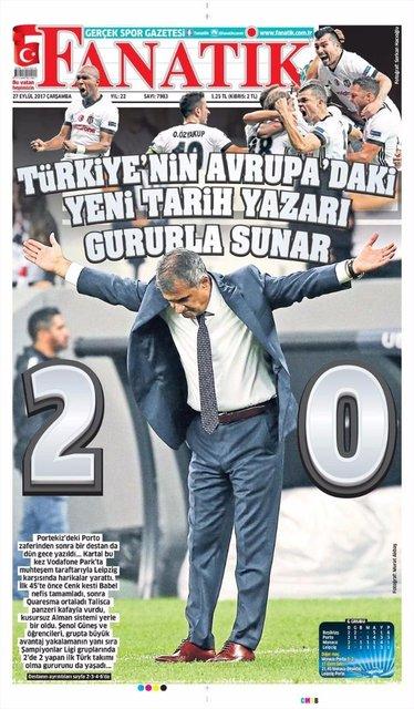 Beşiktaş Leipzig maçının manşetleri
