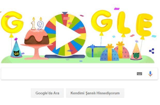 Google doğum günü çarkıfeleği