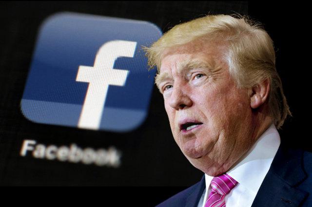 Facebook on trump