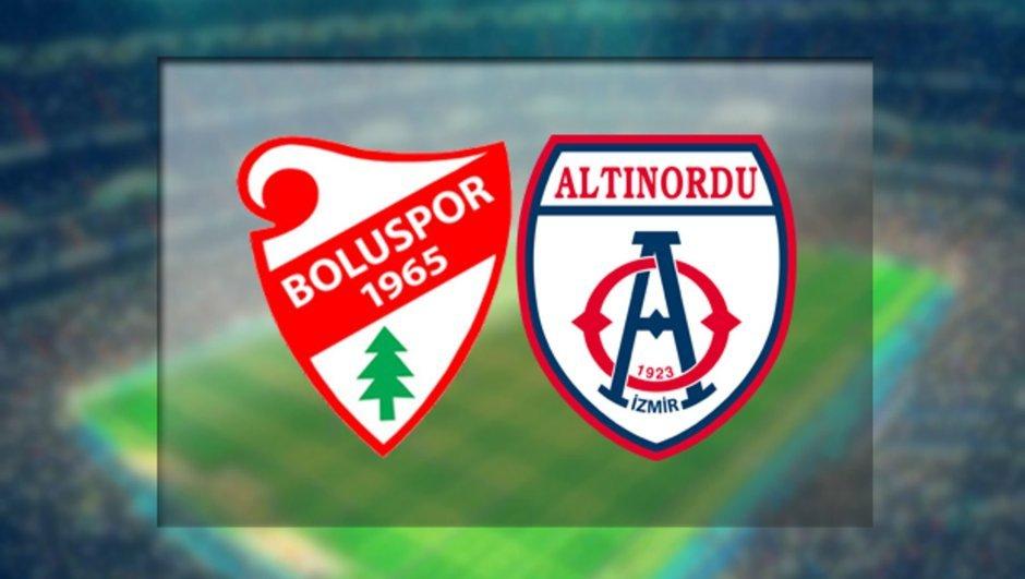 Boluspor - Altınordu