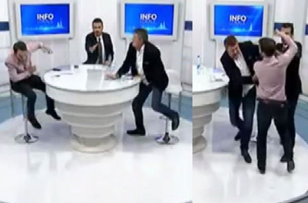 Kosova'da iki milletvekili canlı yayında yumruk yumruğa birbirine girdi