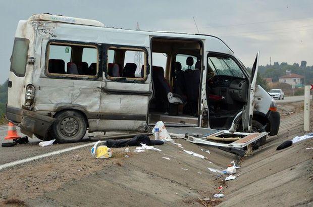 Karabük'te işçi servisi devrildi: 16 yaralı