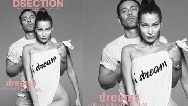 Ünlü model Bella Hadid ile fotoğrafçı Mert Alaş, bir yardım projesi için birlikte poz verdi.