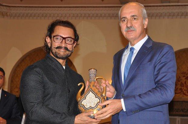 Bakan Kurtulmuş ile ünlü yıldız Aamir Khan bir araya geldi!