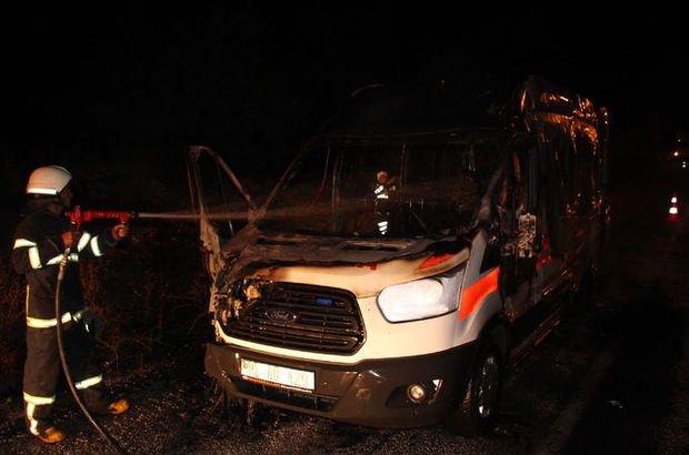 Korkunç! Ambulansta oksijen tüpü patladı, hasta yanarak can verdi