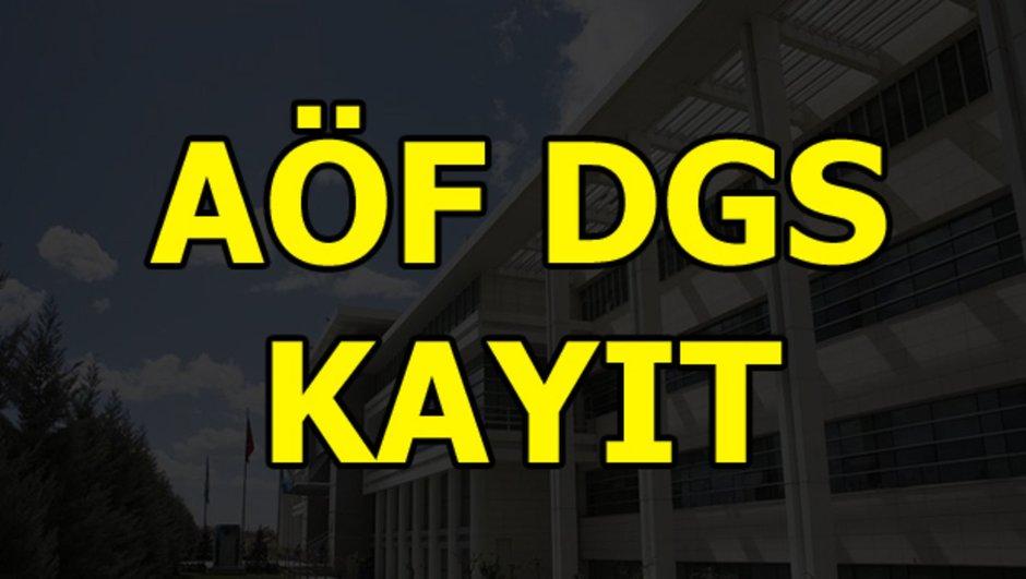 AÖF DGS kayıtları