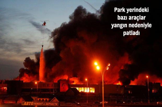 Moskova'da büyük yangın! 3 bin kişi tahliye edildi