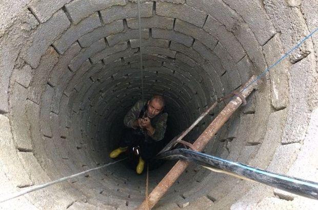 12 metrelik kuyuya düşen yaşlı adam kurtarıldı