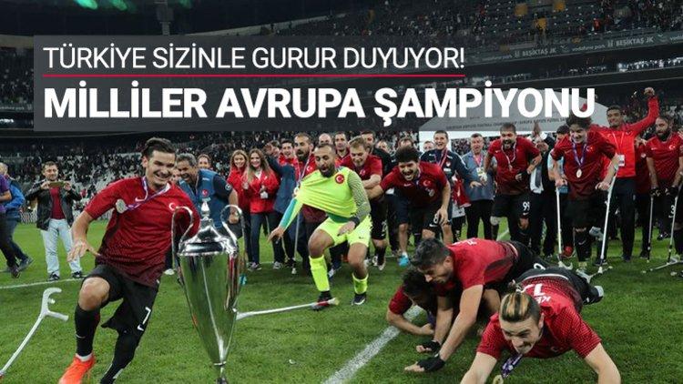 Ampute Milli Takımımız, Avrupa Şampiyonası finalinde İngiltere'yi 2-1 yendi ve şampiyon oldu…