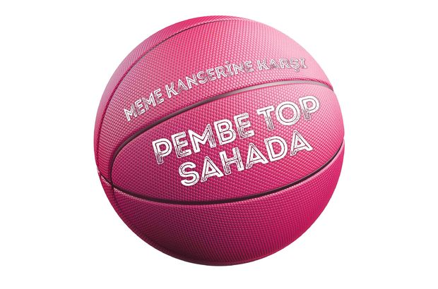 pembe basketbol top