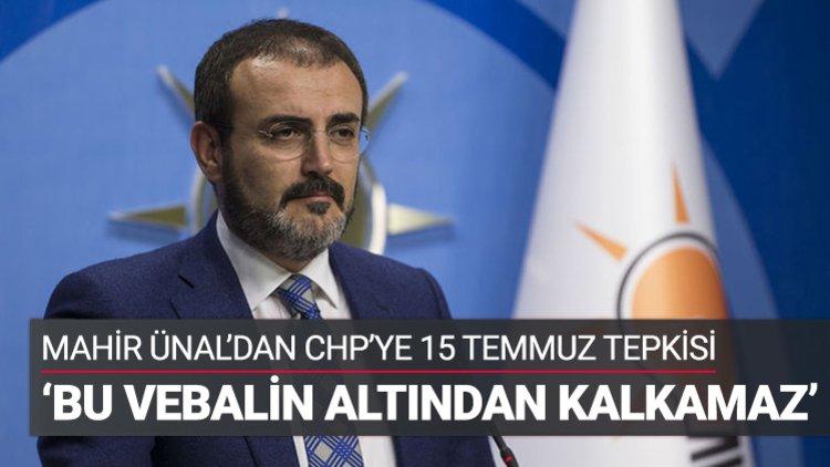 AK Parti Genel Başkan Yardımcısı ve Parti Sözcüsü Mahir Ünal, Merkez Yürütme Kurulu toplantısı devam ettiği sırada, parti genel merkezinde gazetecilere açıklama yaptı.