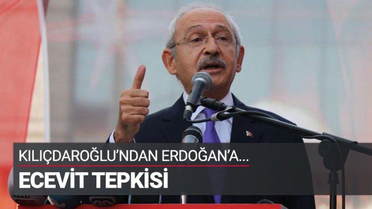 CHP Genel Başkanı Kemal Kılıçdaroğlu, Cumhurbaşkanı Recep Tayyip Erdoğan'ın merhum Başbakan Bülent Ecevit'le ilgili sözlerine tepki gösterdi.