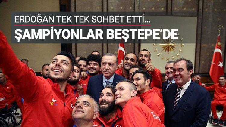 Erdoğan, şampiyonları kabul etti