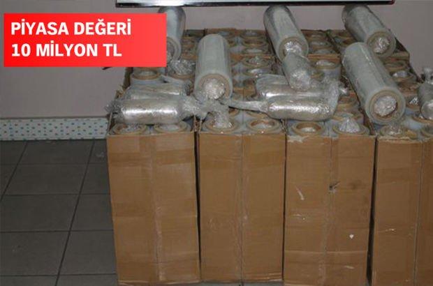 Gürbulak'ta 103 kilogram eroin ele geçirildi