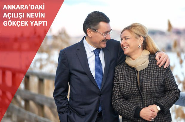 Ankara Büyükşehir Belediye Başkanı Melih Gökçek, Hacı Bayram Veli Müzesi'nin açılışını yapan eşi Nevin Gökçek'e teşekkür etti