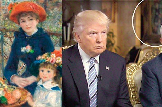 Donald Trump'ın evindeki Renoir tablo sahte çıktı