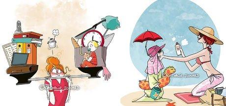 Anne olmanın zorluklarını anlatan 24 illüstrasyon