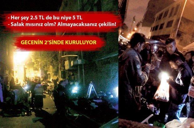 İstanbul'da gece yarısı 350 metrelik semt pazarı!
