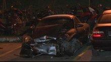 Bağdat Caddesi'nde kontrolden çıkan araç yayalara çarptı