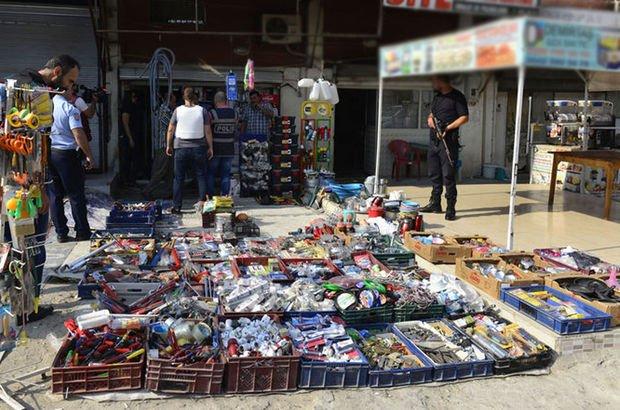 Adana'da kaçak sigara ve içki baskını