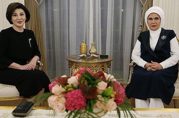 Emine Erdoğan, Cumhurbaşkanı Mirziyoyev'in eşi ile görüştü
