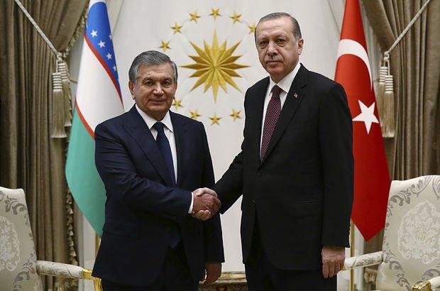 Cumhurbaşkanı Erdoğan Özbek mevkidaşı ile basın açıklaması yapt