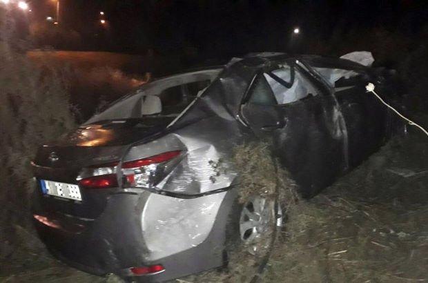 Kocaeli'de otomobil devrildi: 3 yaralı