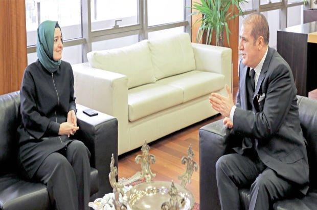 Aile Bakanı'ndan Habertürk'e ziyaret