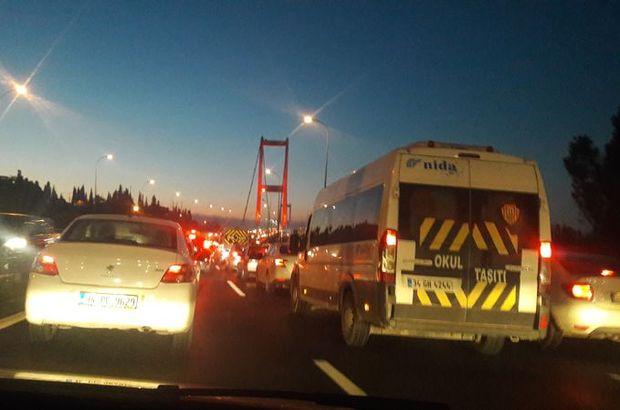 15 Temmuz Şehitler Köprüsü'nde kaza