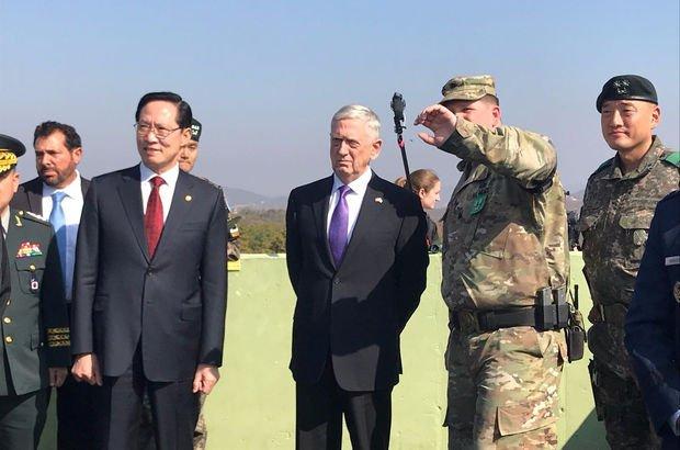 ABD Savunma Bakanı Mattis, Kuzey Kore sınırında!