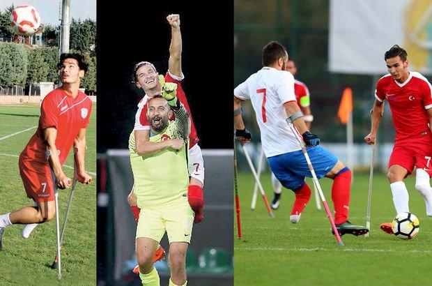 Avrupa şampiyonu ampute futbol milli takımı'nın Serkanı: 'Çok protez eskittim'