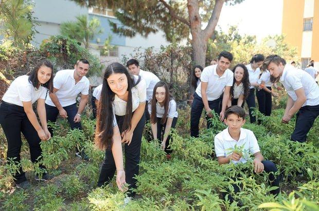 Öğrencilerin organik okul projesine ilgi