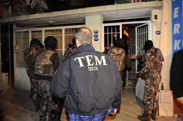 İzmir'de 29 Ekim öncesi 3 terör örgütüne operasyon