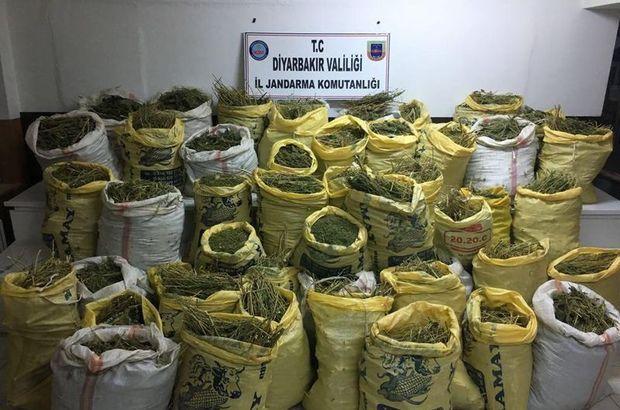Diyarbakır'da 1 ton 661 kilo esrar ele geçirildi