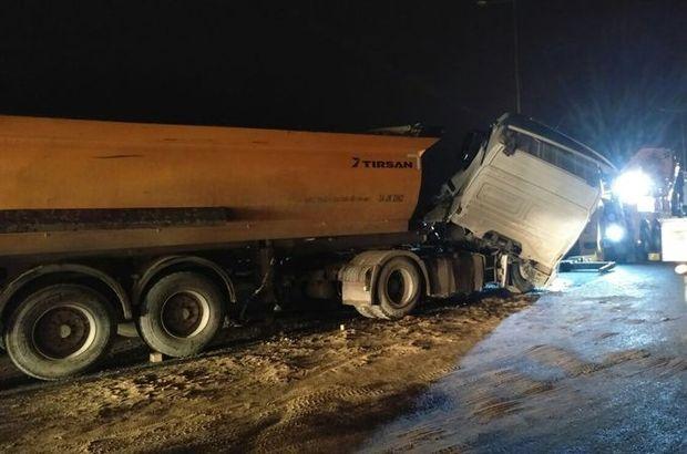 İstanbul'da 6 hafriyat kamyonu birbirine girdi! Yarış iddiası