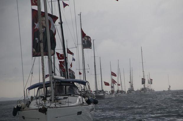 Bursalı yelkenciler Cumhuriyet coşkusunu denizde yaşadı