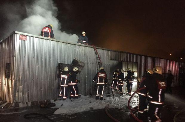 İstanbul Bağcılar  tekstil atölyesi yangın