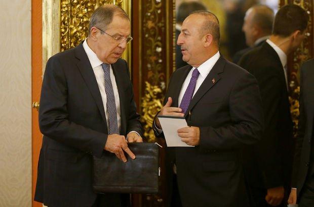 Çavuşoğlu Lavrov'la Suriye'yi görüştü!