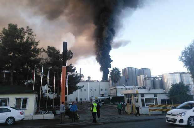 Son dakika: Adana'da fabrika yangını