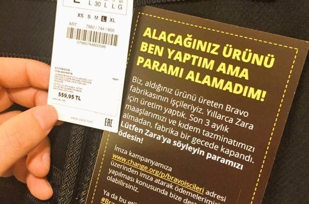 Zara ürünlerinde isyanın etiketi!